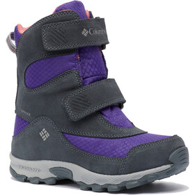 Columbia Parkers Peak Hook-and-Loop Boots Kids emperor/wild salmon